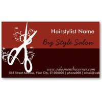Classic Hair Stylist Salon - Spa Business Card Template from Zazzle.com