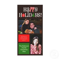 Letter Icons and Color Blocks Holiday Photo Cards from Zazzle.com