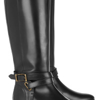 Burberry Shoes & Accessories | Leather riding boots | NET-A-PORTER.COM