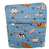 Microwave Potato Bag/ Farm Animals/Zoo Animals/Blue/Country Kitchen Style