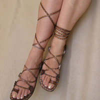 Handmade Leather Sandals Glory by Calpas on Etsy