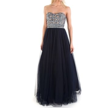 Blondie Nites Juniors Strapless Embellished Ball Gown at Von Maur