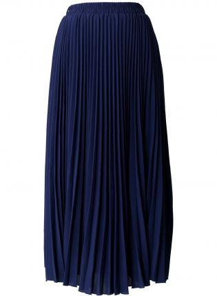 navy blue pleated maxi skirt from ustrendy bottoms