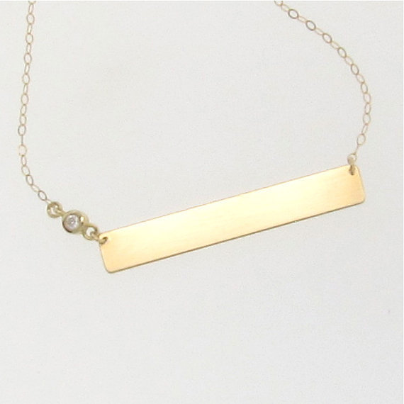 14k gold name plate necklace with from classicdesigns on etsy