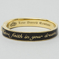 "The ""Have Faith in Your Dreams"" Bracelet in Black by Disney Couture Jewelry 