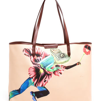 Canvas Gecko Melina Tote - MARY KATRANTZOU