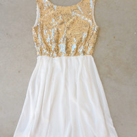 A Simple Sparkle Dress in Ivory [6712] - $52.00 : Feminine, Bohemian, & Vintage Inspired Clothing at Affordable Prices, deloom