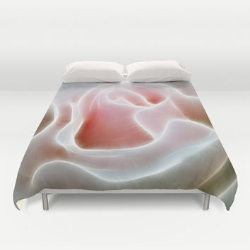 Pink Rose Duvet Cover by Alice Gosling