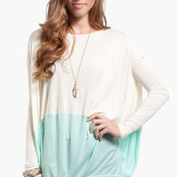 Contrast Oversized Top $26