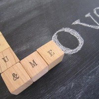 Wedding Personalized Wood Blocks - .. on Luulla