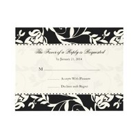 Elegant Wedding RSVP Cards Custom Announcement from Zazzle.com