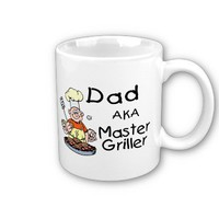 Dad Master Griller Coffee Mugs from Zazzle.com