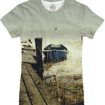 Crooked fisherman Women's T-Shirts by Happy Melvin | Nuvango