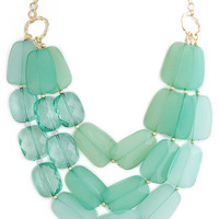 Mint Jewel Layer Necklace – Modeets