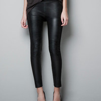 FAUX LEATHER LEGGINGS - Woman - New this week - ZARA United States