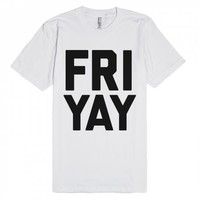 Friday YAY | Fitted T-shirt | SKREENED