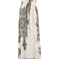 Cream print bandeau maxi dress - Maxi Dresses  - Dresses  - Dorothy Perkins