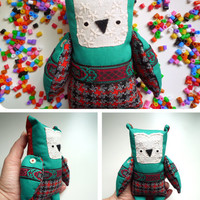 Morris  - Little  owl, soft art  toy  by Wassupbrothers