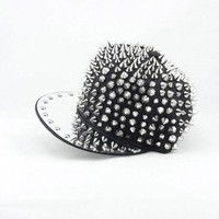 Studded Snapback - Spiky Night | Mad Lady