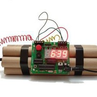 Bomb Alarm Clock that can be diffused as well | materialicious