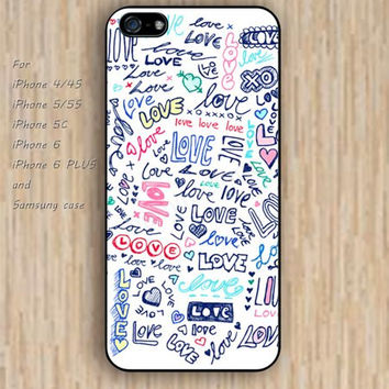 iPhone 6 case loves case colorful iphone case,ipod case,samsung galaxy case available plastic rubber case waterproof B061