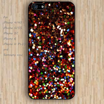 iPhone 6 case colorful sparkle iphone case,ipod case,samsung galaxy case available plastic rubber case waterproof B108
