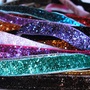 Non-Slip Thin Elastic Glitter Headband for Running or Sports