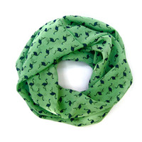 Childs Flamingo Scarf Cute Toddler Scarf Green Navy Blue Girls Scarf Kids Scarf Cute Gift Idea Ready To Ship