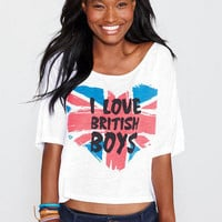 I Love British Boys Tee