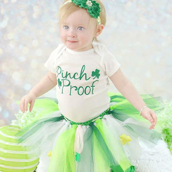 St. Patrick's Day Pinch Proof Onesuit/Tutu Set (Onesuit/tutu available for purchase separately)