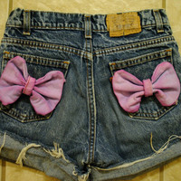 Bow Highwaisted Hipster Shorts