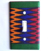 African Wax Print Single Toggle Switchplate Switch Plate