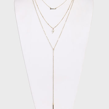 Wing It Layered Necklace - Gold