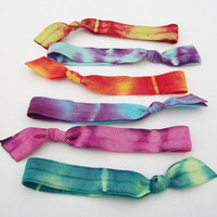 6 Tie Dye Hair Ties By Lucky Girl on Luulla
