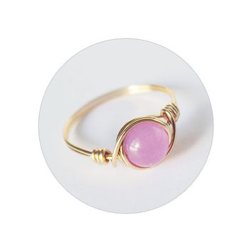 Orchid Jade ring - prom rings