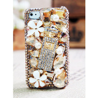 Apple iPhone 4S-4G-3GS Multicolor Crystal Flower Bottle Fashion Best Case Cover Gift Free Shipping Worldwide