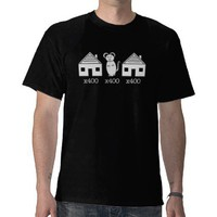 400 Houses 400 Mouses Tee Shirt from Zazzle.com