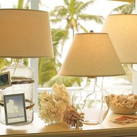 Bacchus Glass Table &amp; Bedside Lamp | Pottery Barn