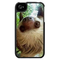 Upside Down Sloth Iphone 4/4s Case from Zazzle.com