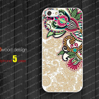 iphone 5 cases NEW case for iphone 5  iphone 5 cover colorized illustrator classic flower graphic design printing