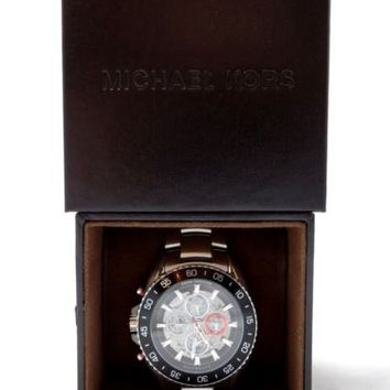 Michael Kors JetMaster Automatic Silver-Tone Stainless Watch - MK-9011 - In Box