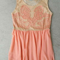 Desert Peach Dress [5533] - $36.00 : Feminine, Bohemian, & Vintage Inspired Clothing at Affordable Prices, deloom