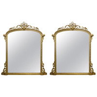 Large Pair of Magnificent 19th Century Mirrors