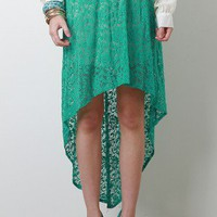 Mint Vine Maxi Skirt