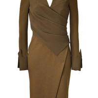 Donnakaran Brasscrepesculptedbodiceangularslitdress - LoLoBu