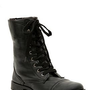 Black Floral Lined Combat Boot - 978463
