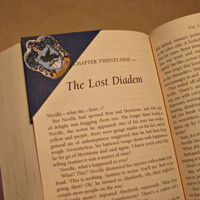 Harry Potter House Crest Corner Bookmark