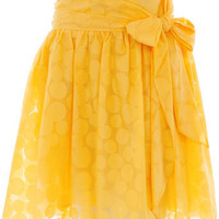 Yellow spot burnout skirt - Skirts -View All Sale- Sale  Offers - Dorothy Perkins