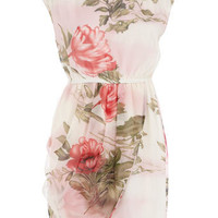 Cream floral wrap skirt dress - Sale  Offers - Dorothy Perkins