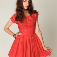 Free People Short Sleeve Eyelet Garden Day Dress at Free People Clothing Boutique